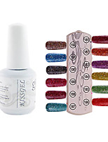 YeManNvYou®1PCS Sequins UV Color Gel Nail Polish No.181-192 Soak-off(15ml,Assorted Colors)