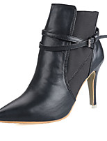 Women's Shoes Stiletto Heel Heels / Bootie / Pointed Toe / Closed Toe Boots Dress Black / Gray