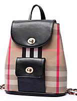 VENETA® Women PU Bucket Backpack / Sports & Leisure Bag / School Bag / Travel Bag - Blue / Red / Khaki