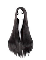 Capless Black Extra Long High Quality Natural Straight Synthetic Wig