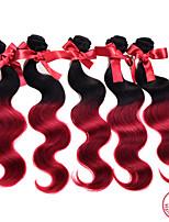 1pc evet mucho 7a ombre malasia virginal de la onda del cuerpo del pelo # 1BT # burdeos extensiones de cabello ombre de dos cabellos