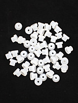 FTTATTOO® 1000pcs Silicone Tattoo Needle Machine Grommets Nipples White Pin Eye Pad