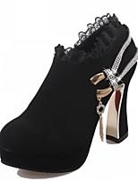 Women's Shoes Chunky Heel Heels / Platform / Bootie / Round Toe Heels / Boots Casual Black