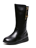 Women's Shoes Wedge Heel Fashion Boots / Round Toe Boots Casual Black / Brown
