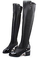 Women's Shoes Chunky Heel Fashion Boots / Pointed Toe Boots Party & Evening / Dress / Casual Black