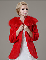 Wedding / Party/Evening / Casual Faux Fur Coats/Jackets 3/4-Length Sleeve Fur Coats