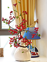 Lucky Annatto Berries Long Branch Landing Simulation Flowers PU Others Artificial Flowers