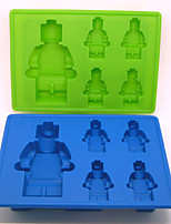 Environmental Protection Robot Silicone IceLattice Mold Random Color