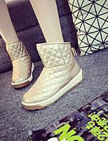 Chaussures Femme - Extérieure - Noir / Or - Talon Plat - Confort - Bottes - Daim