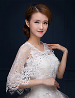 Sleeveless Lace Party/Evening / Casual Capelets Wedding Wraps / Shawls