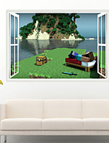 Wall Stickers Wall Decals Style My World Steve By The Sea PVC Wall Stickers