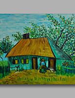 prêt à accrocher étiré peinture à l'huile peinte à la main toile van gogh repro chalet et de la femme avec la chèvre