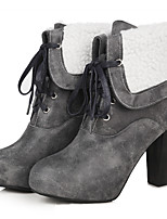 Women's Boots Spring / Fall / Winter Platform / Fashion Boots Leatherette Casual Chunky Heel Fashion Leisur short boots