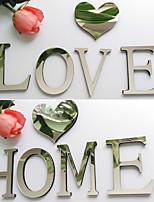 Forme / 3D Stickers muraux Miroirs Muraux Autocollants , PS 10*9*1.2cm
