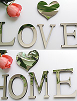 U~Z Letter 3D DIY Mirror Acrylic Wall Stickers Wall Decals 10*9cm