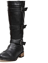 Women's Shoes  Low Heel Round Toe Boots Casual Black