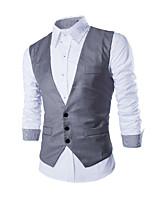 Men's Sleeveless Vest , Canvas / Cotton Work Pure