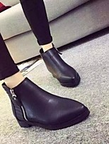Women's Shoes  Chunky Heel Bootie / Pointed Toe Boots Office & Career / Dress / Casual Black / Brown / Gray