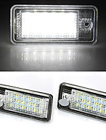 2 White 18 LED 3528 SMD License Plate Lights Lamps Bulbs for AUDI A3 8P A6 4F