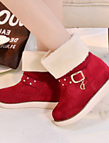 Women's Shoes Thicken Warm Sweet  Flat Heel Round Toe Boots Dress / Casual