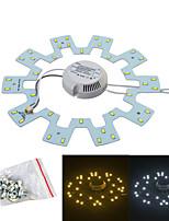 Jiawen 18w 1600lm белый / теплый белый источник света для потолочной лампы / магнитные ногтей (ac175 ~ 265v)