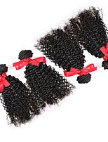 Peruvian Curly Hair Weave Extensions Virgin Human Hair 4pcs Bundles 7A Kinky Curly Hair Natural Color 100g/pcs