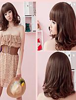 Fashion Little Girl Light Brown Long Hair Wig Hot Pear