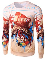 Men's Fashion Abstract Personality 3D Printed Long-Sleeve T-Shirt