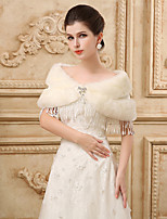 Tassels Sleeveless Wedding Wraps Imitation Cashmere Capelets with Crystal