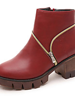 Women's Shoes Leatherette Chunky Heel Fashion Boots / Combat Boots Boots Outdoor / Dress / Casual
