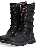 Men's Boots Spring Summer Fall Winter Comfort Synthetic Outdoor Office & Career Party & Evening Casual Black