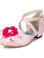 Girls' Shoes Outdoor / Casual Round Toe Silk Flats Pink