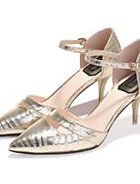 Chaussures Femme-Décontracté / Soirée & Evénement / Habillé-Argent / Or-Talon Aiguille-Talons / Bout Pointu-Talons-Cuir