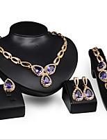 Women's Alloy / Rhinestone Jewelry Set Amethyst