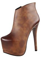 Zapatos de mujer - Tacón Stiletto - Botas a la Moda - Botas - Exterior / Casual - Semicuero - Negro / Marrón / Gris / Caqui