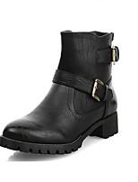 Women's Shoes  Chunky Heel Combat Boots / Round Toe Boots Outdoor / Casual Black / Khaki