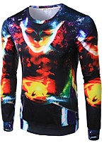 Men's Fashion Personality Abstract 3D Printed Long-Sleeve T-Shirt
