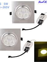 Lampes Encastrées Décorative Blanc Chaud YouOKLight 2 pièces 5W 5 LED Haute Puissance 450 LM AC 85-265 V