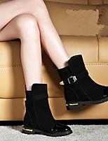 Zapatos de mujer - Plataforma - Botines - Botas - Casual - Semicuero - Negro / Marrón