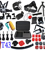 48 in 1 Gopro Accessories Set  Case Stick Selfie Monopod Floating Chest Head Strap For Xiaomi SJCAM Sj4000 Go Pro Hero 4