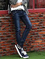 AOLONGQISHI® Men's Pure Long Sleeve Pant , Cotton / Denim Casual 6080