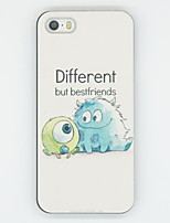 iPhone 7 Plus Different But Best Friend Pattern PC Hard Back Cover Case for iPhone 5/5S