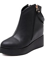 Women's Shoes Platform Fashion Boots / Closed Toe Boots Casual Black
