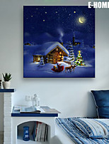 E-HOME® Stretched LED Canvas Print Art Christmas Series LED Flashing Optical Fiber Print One Pcs
