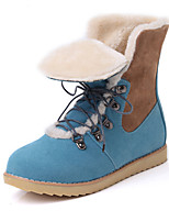 Women's Shoes Leatherette Flat Heel Snow Boots Boots Casual Black / Blue / Brown / Red / Beige