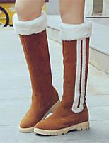 Zapatos de mujer - Tacón Bajo - Punta Redonda / Botas a la Moda - Botas - Vestido / Casual / Fiesta y Noche - Semicuero - Negro / Marrón
