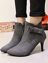 Women's Shoes  Stiletto Heel Pointed Toe / Closed Toe Boots Office & Career / Dress / Casual Black / Red / Gray