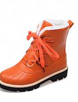 Women's Shoes Low Heel Comfort Boots Outdoor Black / Brown / Orange