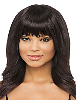 Full Bang Wigs Fashionable Extension Natural Color # 1B Synthetic  Wigs