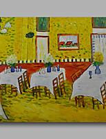 prêt à accrocher étiré peinture à l'huile peinte à la main toile de Van Gogh intérieur repro d'un restaurant un panneau